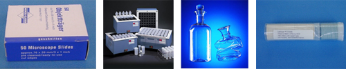 HotBlocks, BOD bottles and vessels, Microscope slides, gold filters